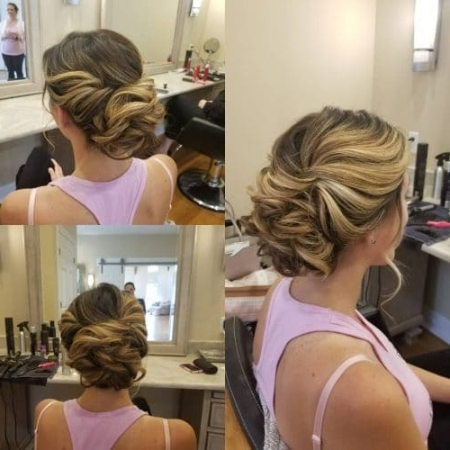 25 Most Beautiful Updos For Medium Length Hair (New For 2018) Inside Romantic Twisted Hairdo Hairstyles (View 25 of 25)