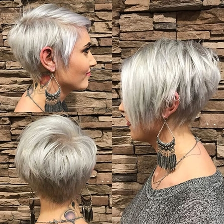 25+ Pixie Bob Haircuts | Bob Hairstyles 2018 – Short Hairstyles For Throughout Latest Stacked Pixie Bob Hairstyles With Long Bangs (View 21 of 25)