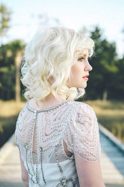25 Short Hair Bridal Styles | Short Hairstyles 2017 – 2018 | Most Pertaining To White Wedding Blonde Hairstyles (View 7 of 25)