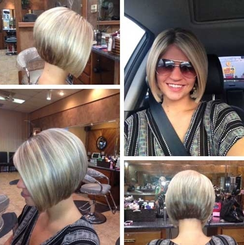 25 Short Inverted Bob Hairstyles   Short Hairstyles 2017 – 2018 Within Newest Stacked Pixie Hairstyles With V Cut Nape (View 15 of 25)