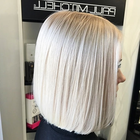 25 Short Straight Blonde Hairstyles 2017 – 2018 – Love This Hair Throughout Silver Blonde Straight Hairstyles (View 14 of 25)