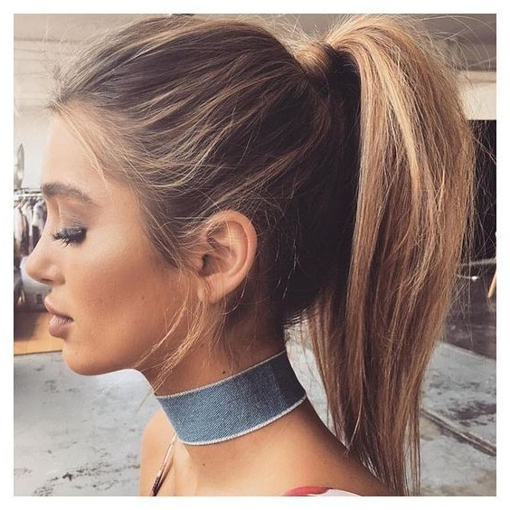 25 Ways To Step Up Your Ponytail Game | Hair | Pinterest | Prom Intended For Long Brown Hairstyles With High Ponytail (View 3 of 25)