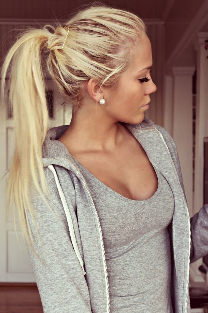 26 Cute Haircuts For Long Hair – Hairstyles Ideas In 2018 | Beauty For Long Blond Ponytail Hairstyles With Bump And Sparkling Clip (View 5 of 25)
