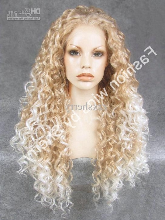 26 Extra Long #27Hy/1001 Blonde Tip White Heat Friendly Synthetic With Regard To White Blonde Curls Hairstyles (View 3 of 25)