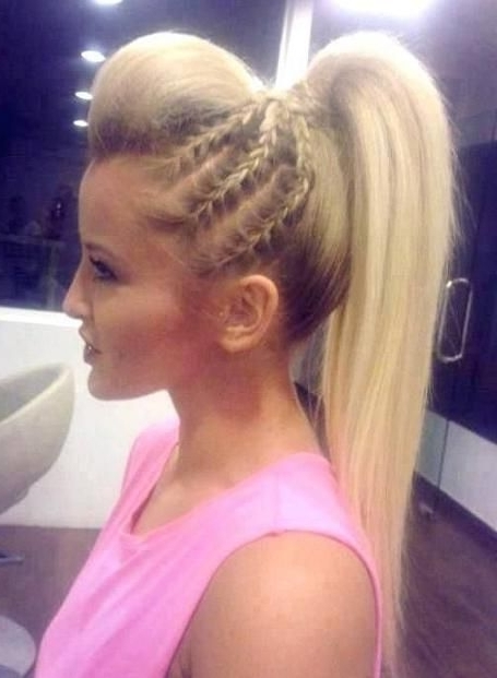 26 Pretty Braided Hairstyle For Summer In 2018 | Hair | Pinterest Throughout Updo Ponytail Hairstyles With Poof (View 5 of 25)