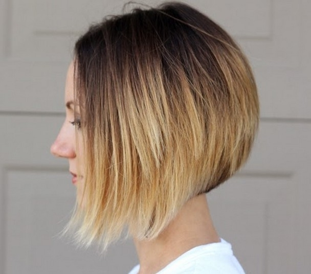 26 Trendy Ombre Bob Hairstyles – Latest Ombre Hair Color Ideas With Regard To Asymmetry Blonde Bob Hairstyles Enhanced By Color (View 10 of 25)