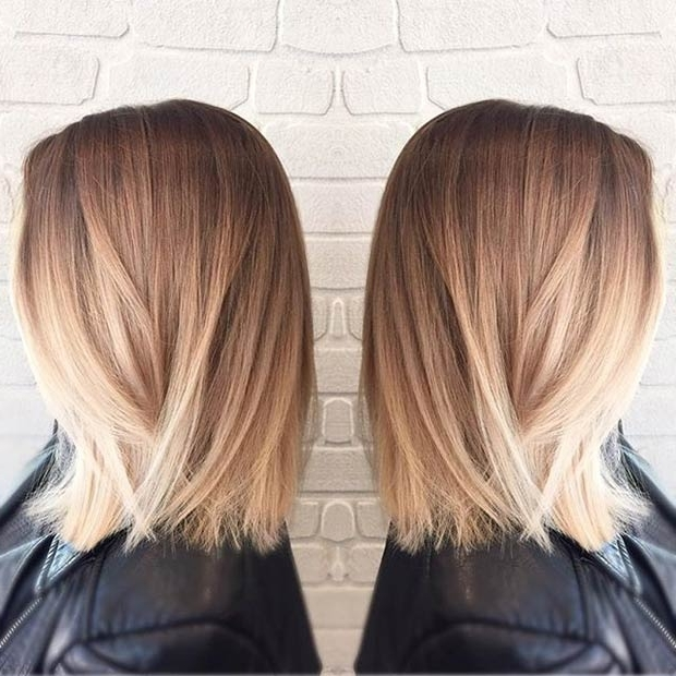 27 Beautiful Long Bob Hairstyles: Shoulder Length Hair Cuts Regarding Bright Long Bob Blonde Hairstyles (View 17 of 25)