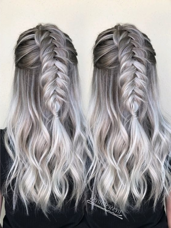 27+ Best Platinum Blonde Hair Color And Highlights For 2018 Within Grayscale Ombre Blonde Hairstyles (View 10 of 25)