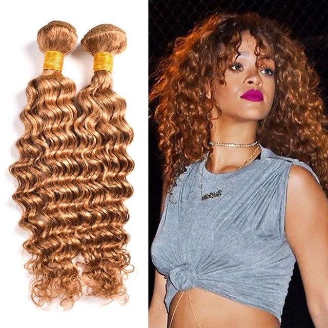 27 Blonde Hair Brazillian Deep Wave Virgin Hair Honey Blonde With Regard To Amber Waves Blonde Hairstyles (View 19 of 25)