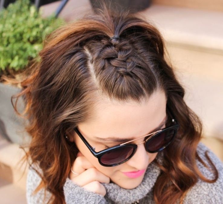 27 Braided Bang Hairstyles For An Effortless Fancy Look – Page 5 Of 6 Inside Brunette Ponytail Hairstyles With Braided Bangs (View 8 of 25)