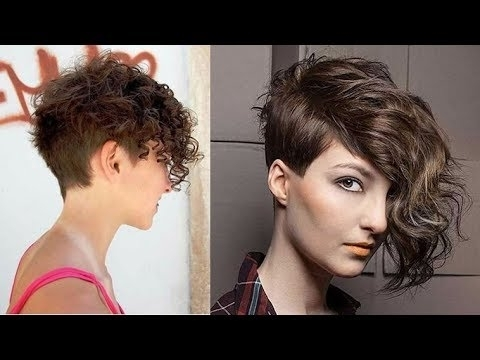 27 Cool Undercut Pixie Hairstyles For Curly Hair & Pixie Short Curly Within Most Up To Date Pixie Bob Hairstyles With Temple Undercut (View 10 of 25)