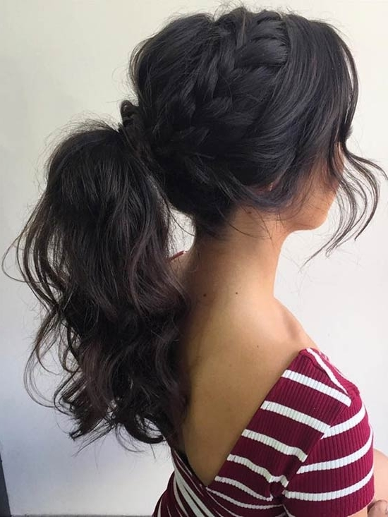 27 Gorgeous Prom Hairstyles For Long Hair | Page 2 Of 3 | Stayglam In Long Messy Pony With Braid (View 14 of 25)