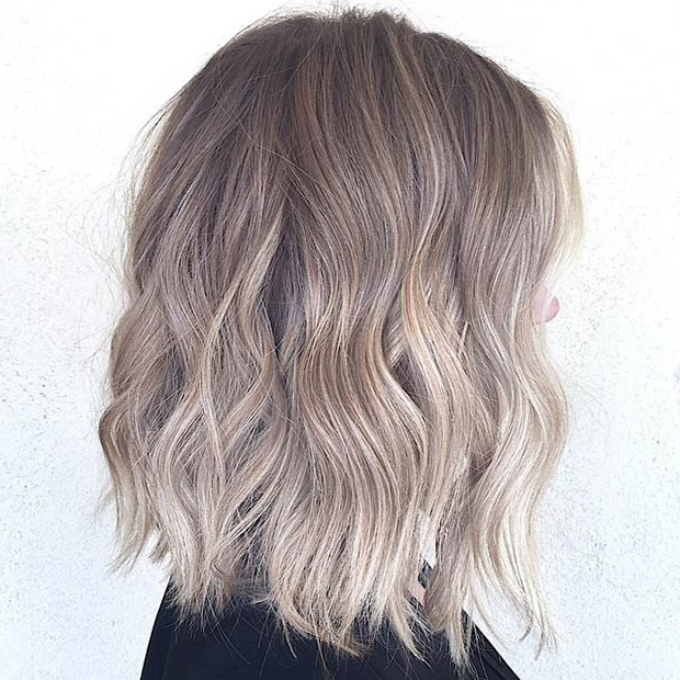 27 Long Bob Hairstyles – Beautiful Lob Hairstyles For Women – Pretty In Brown Blonde Balayage Lob Hairstyles (View 17 of 25)