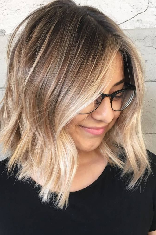 27 Pretty Shoulder Length Hair Styles | Hair | Pinterest | Middle With Medium Blonde Balayage Hairstyles (View 10 of 25)