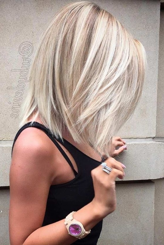 27 Sexy And Chic Long Bob Hair Ideas – Styleoholic Throughout Long Bob Blonde Hairstyles With Lowlights (View 18 of 25)