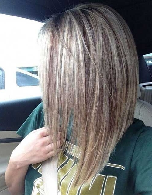 27 Sexy And Chic Long Bob Hair Ideas – Styleoholic With Messy Blonde Lob With Lowlights (View 3 of 25)