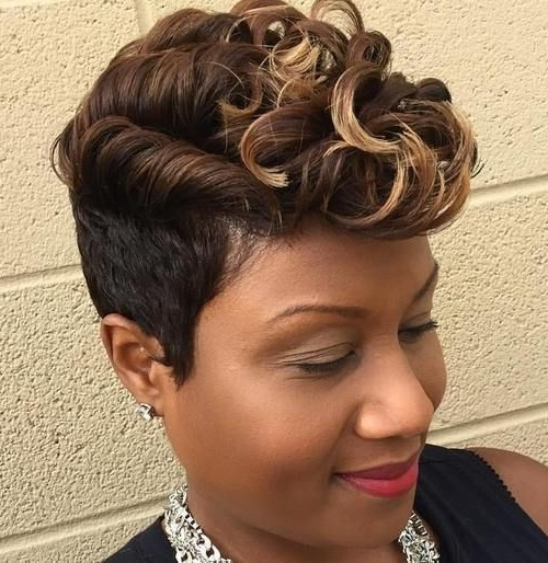 27 Short Hairstyles And Haircuts For Black Women Of Class Pertaining To Most Up To Date Short Black Pixie Hairstyles For Curly Hair (View 13 of 25)