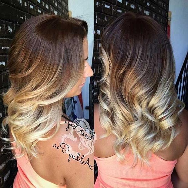 27 Stunning Blonde Highlights For Dark Hair | Page 3 Of 3 | Stayglam Regarding Dark Blonde Hairstyles With Icy Streaks (View 4 of 25)