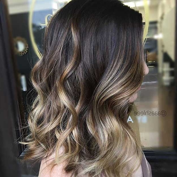 27 Stunning Blonde Highlights For Dark Hair | Stayglam In Beige Balayage For Light Brown Hair (View 11 of 25)