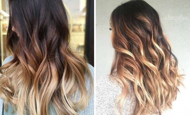 27 Stunning Blonde Highlights For Dark Hair | Stayglam Pertaining To Brown And Dark Blonde Layers Hairstyles (View 13 of 25)