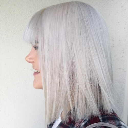 27 Ultra Cute Hairstyles & Haircuts Right Now In 2018! With Icy Blonde Shaggy Bob Hairstyles (View 18 of 25)