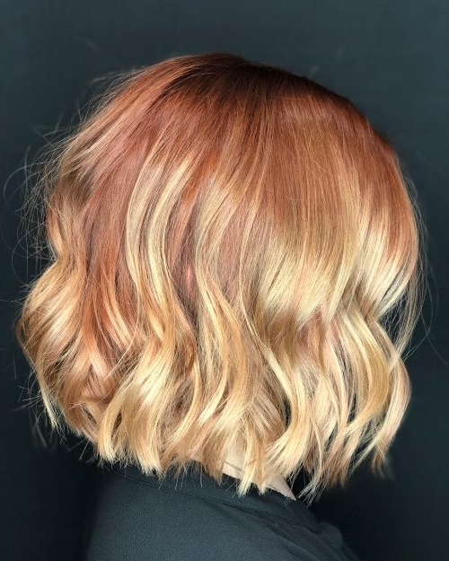 27 Yummiest Strawberry Blonde Hair Colors For 2018! Within Light Chocolate And Vanilla Blonde Hairstyles (View 20 of 25)