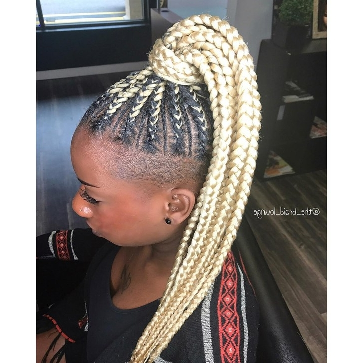 28 Best Black Braided Hairstyles To Try In 2018 | Allure For Platinum Braided Updo Blonde Hairstyles (View 25 of 25)