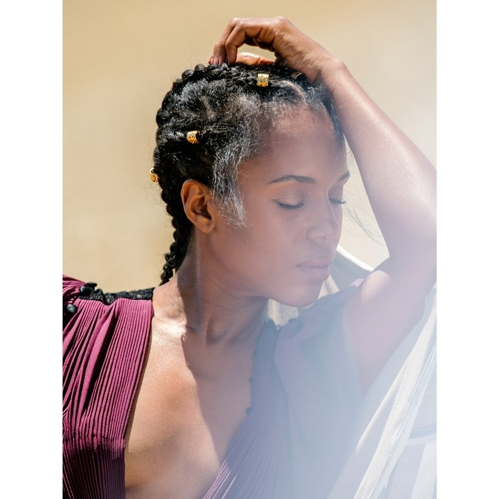 28 Best Black Braided Hairstyles To Try In 2018 | Allure Regarding Long Braided Ponytail Hairstyles With Bouffant (View 7 of 25)