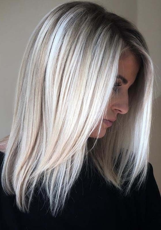 28 Excellent Ice Blonde Hair Colors With Dark Roots In 2018 | Hair For Dark Roots And Icy Cool Ends Blonde Hairstyles (View 6 of 25)