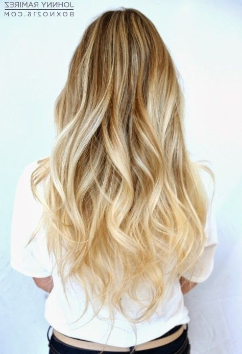 28 Fantastic Hairstyles For Long Hair 2017 – Pretty Designs For Blonde Ombre Waves Hairstyles (View 12 of 25)