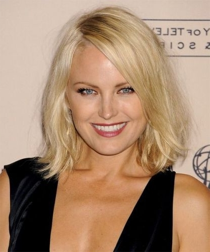 28 Long Bob With Side Swept Bangs Hairstyles (Sexy Bob Haircuts With Within Blonde Lob Hairstyles With Sweeping Bangs (View 13 of 25)