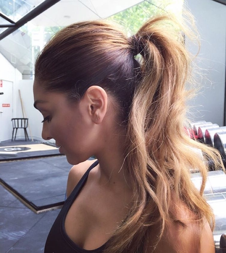 28 Messy Ponytails For Every Occasion 2018 | Hairstyle Guru For High Messy Pony Hairstyles With Long Bangs (View 11 of 25)