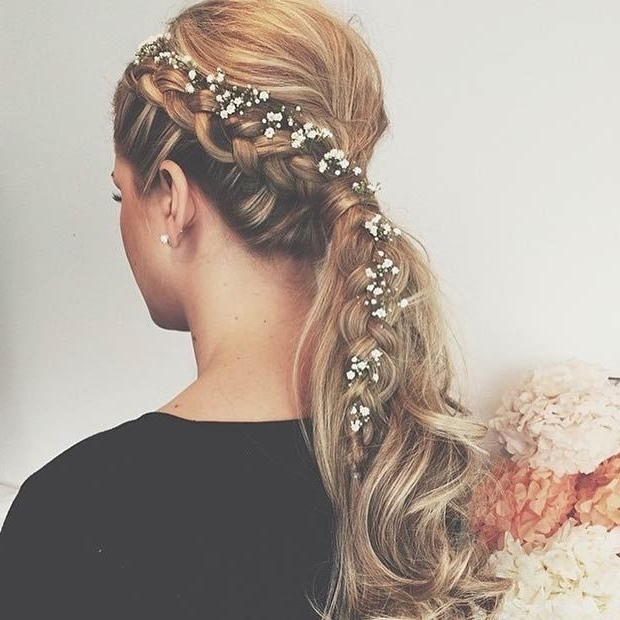 28 Trendy Wedding Hairstyles For Chic Brides | Stayglam Wedding With Pony Hairstyles With Accent Braids (View 7 of 25)