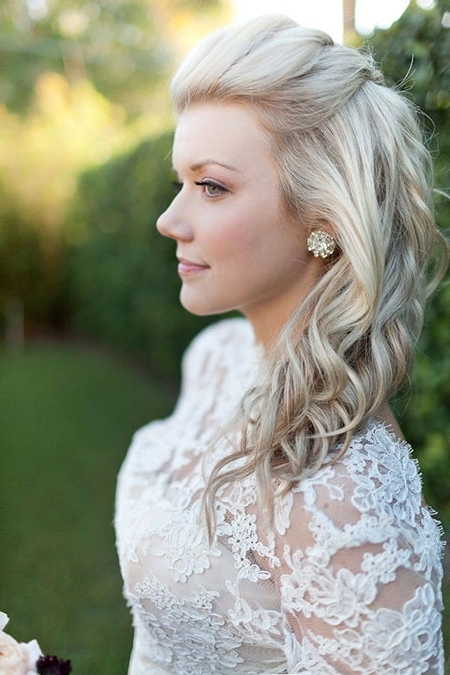 29 Cutest Wedding Hairstyles | Hairstyles & Haircuts 2016 – 2017 Inside Ash Blonde Half Up Hairstyles (View 3 of 25)