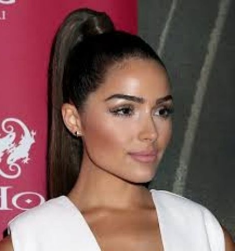 29 Sexy Ponytail Hairstyles (Wavy, Straight, Messy & Sleek) Page 1 Of 2 Inside Brunette Prom Ponytail Hairstyles (View 7 of 25)