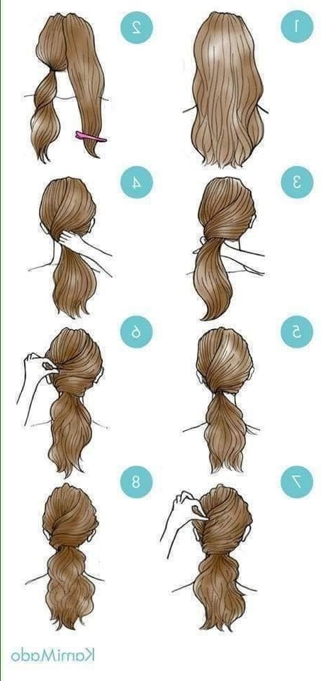 29 Simple And Easy Ways To Tie Up Your Hair ^ ^ | Beauty Tips Within Dyed Simple Ponytail Hairstyles For Second Day Hair (View 21 of 25)