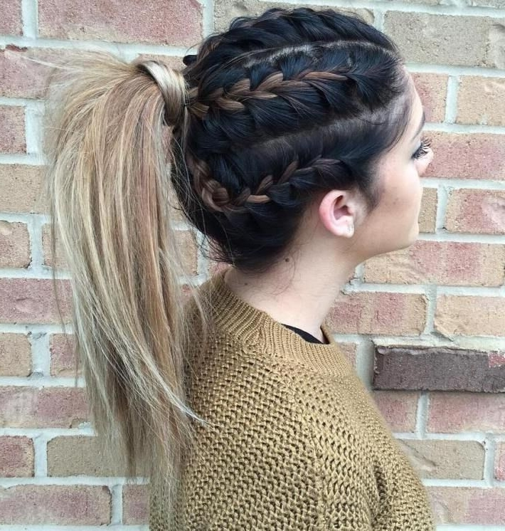 291 Best Hairstyles Images On Pinterest | Hair Dos, Braided Inside Braided Millennial Pink Pony Hairstyles (View 12 of 25)