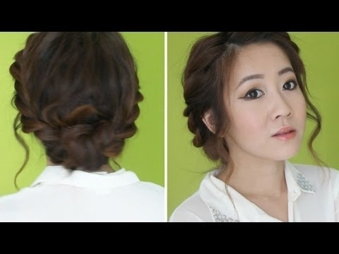 3 Min Twisted Updo – Youtube Throughout Romantic Twisted Hairdo Hairstyles (View 10 of 25)