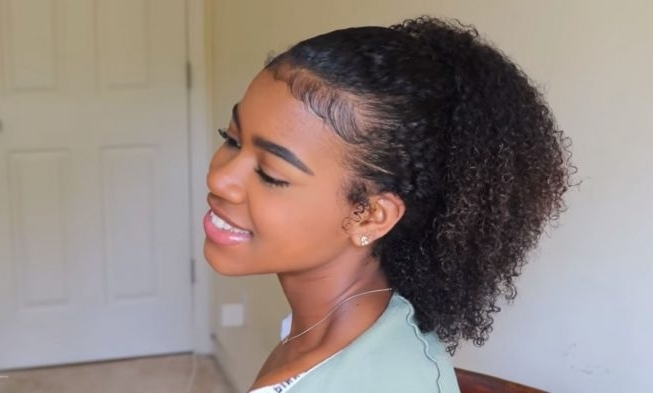3 On The Go Natural Hair Ponytails Ideas For Lazy Days & Special Throughout Pony Hairstyles For Natural Hair (View 10 of 25)