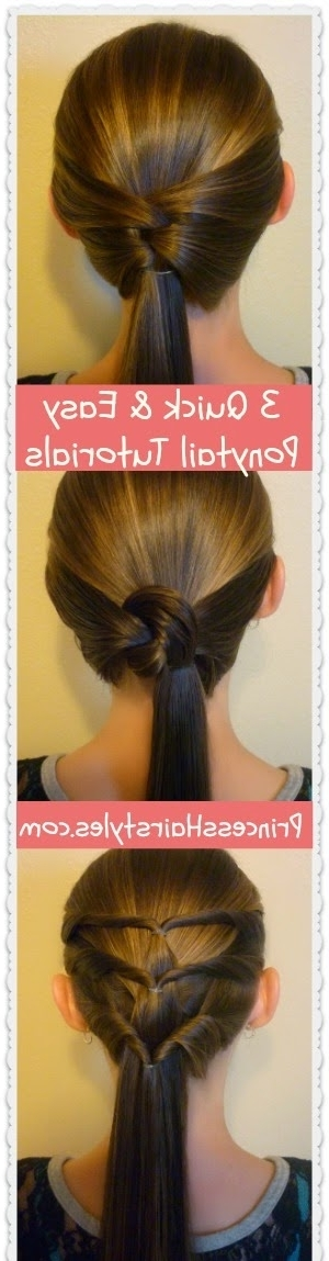 3 Quick And Easy Ponytail Hairstyles – Hairstyles For Girls Inside Princess Tie Ponytail Hairstyles (View 22 of 25)