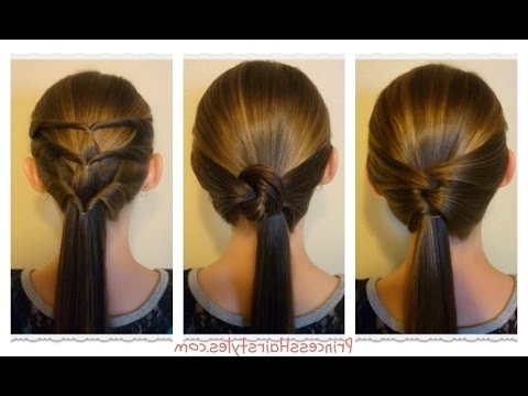 3 Quick And Easy Ponytails! Back To School Hairstyles – Youtube Intended For Princess Tie Ponytail Hairstyles (View 9 of 25)