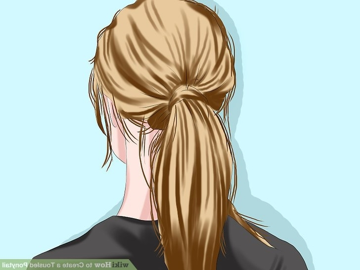 3 Ways To Create A Tousled Ponytail – Wikihow Inside Twisted And Tousled Ponytail Hairstyles (View 9 of 25)