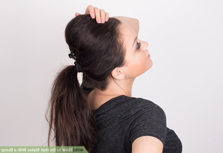 3 Ways To Do Hair Styles With A Bump – Wikihow Within Stylish Low Pony Hairstyles With Bump (View 4 of 25)