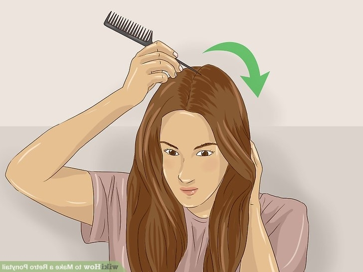 3 Ways To Make A Retro Ponytail – Wikihow Inside Vintage Curls Ponytail Hairstyles (View 10 of 25)