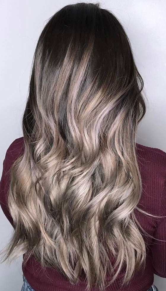 30 Ash Blonde Hair Color Ideas That You'll Want To Try Out Right Away Inside Brunette Hairstyles With Dirty Blonde Ends (View 7 of 25)