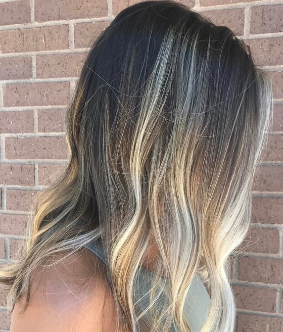 30 Ash Blonde Hair Color Ideas That You'll Want To Try Out Right Away With Regard To Dark Roots And Icy Cool Ends Blonde Hairstyles (View 7 of 25)
