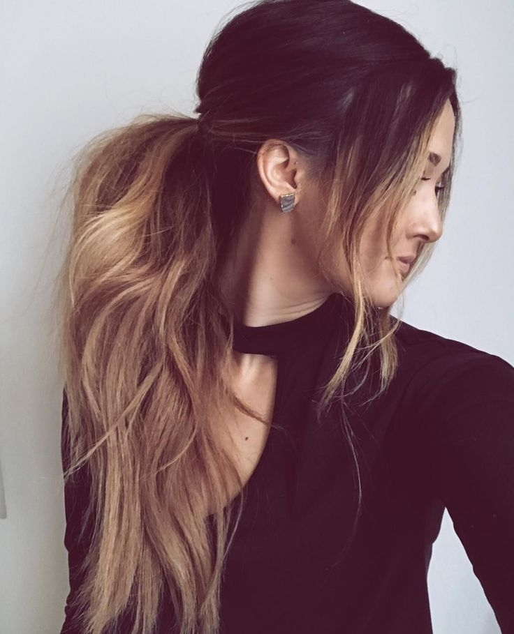 30 Attractive And Charming Messy Hairstyles For Women – Haircuts For Loose Messy Ponytail Hairstyles For Dyed Hair (View 10 of 25)