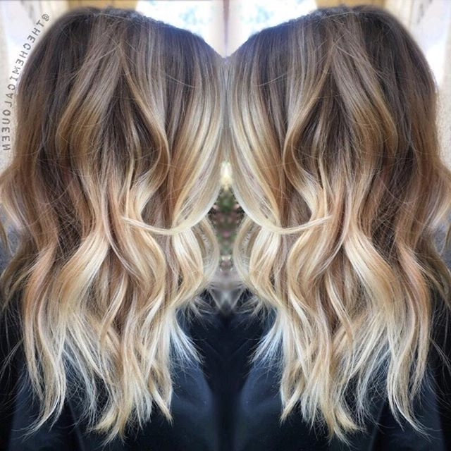 30 Balayage Long Hairstyles 2018 – Balayage Hair Color Ideas: Blonde Pertaining To Medium Blonde Balayage Hairstyles (View 14 of 25)
