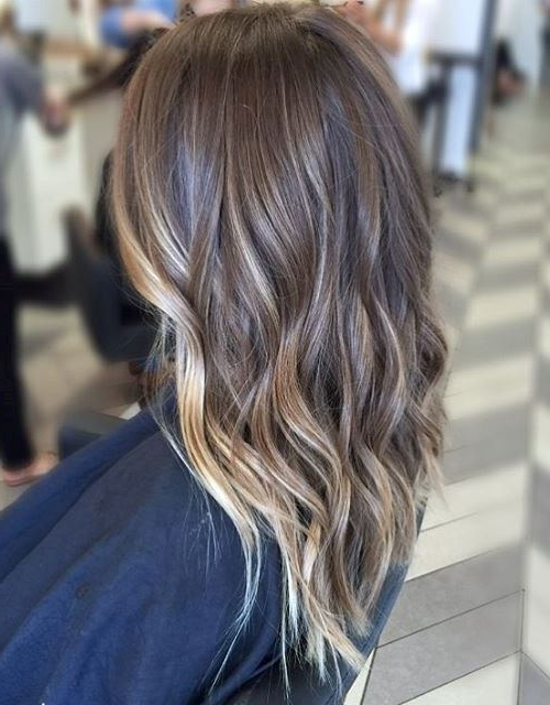 30 Balayage Long Hairstyles 2018 – Balayage Hair Color Ideas: Blonde Throughout Icy Highlights And Loose Curls Blonde Hairstyles (View 24 of 25)
