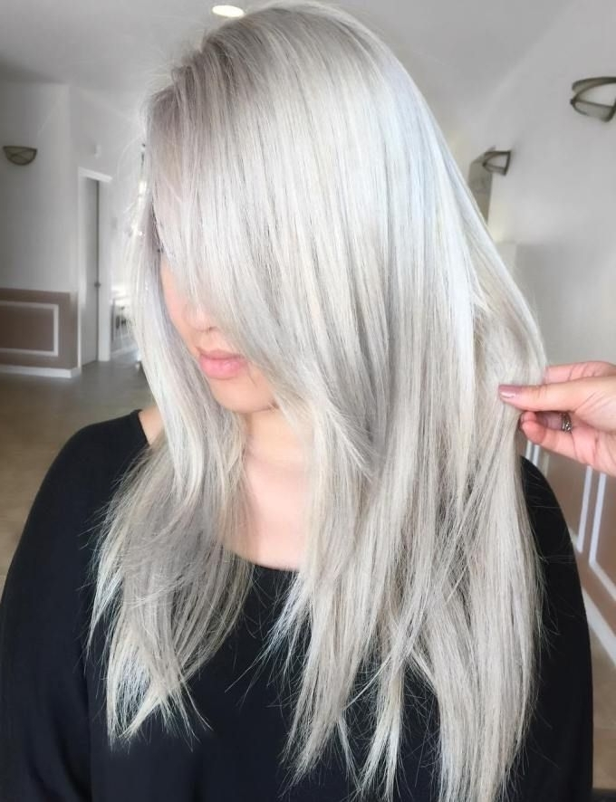 25 Best Silver Blonde Straight Hairstyles